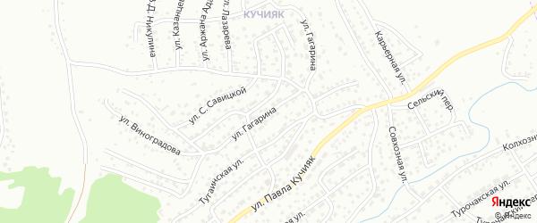 Улица Гагарина на карте Горно-Алтайска с номерами домов