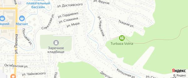 Брусничный переулок на карте Горно-Алтайска с номерами домов