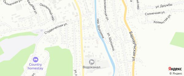 Плесовый переулок на карте Горно-Алтайска с номерами домов