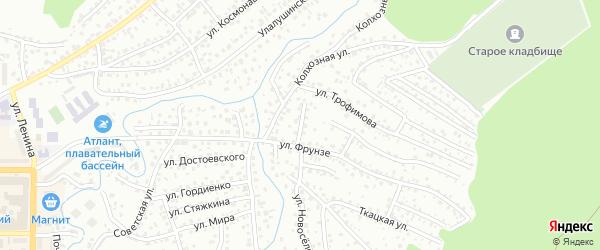 Грушевый переулок на карте Горно-Алтайска с номерами домов