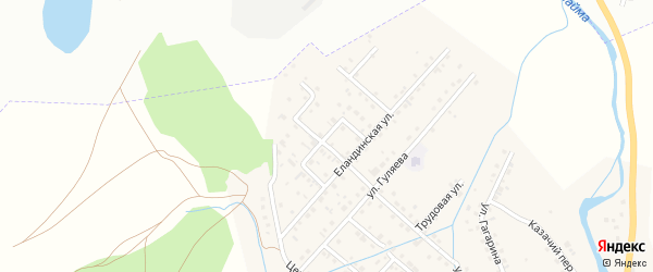 Янтарная улица на карте села Кызыла-Озька с номерами домов