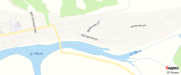 Нагорная улица на карте села Новиково с номерами домов