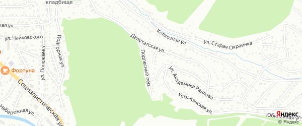Подлесный переулок на карте Горно-Алтайска с номерами домов