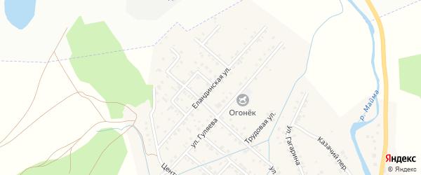 Еландинская улица на карте села Кызыла-Озька с номерами домов