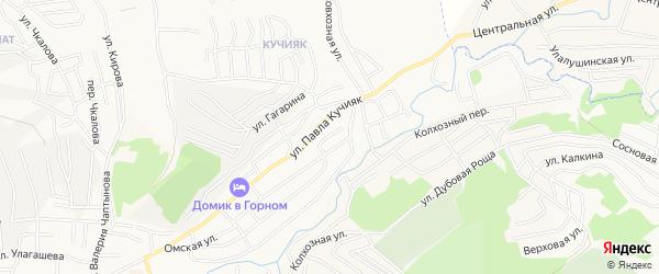 Южный ГСК на карте Горно-Алтайска с номерами домов