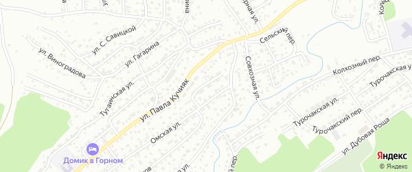 Южная улица на карте Горно-Алтайска с номерами домов