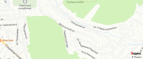 Депутатская улица на карте Горно-Алтайска с номерами домов