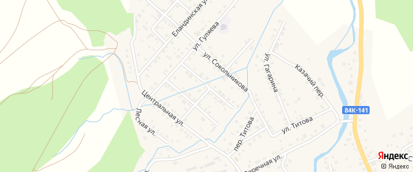 Олимпийская улица на карте села Кызыла-Озька с номерами домов