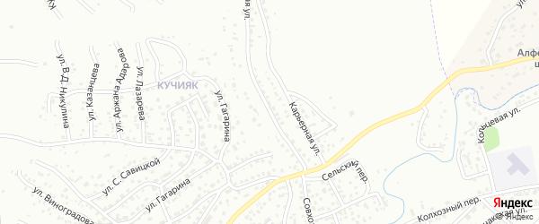 Совхозная улица на карте Горно-Алтайска с номерами домов
