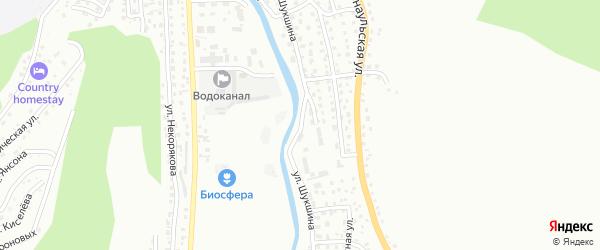Улица Шукшина на карте Горно-Алтайска с номерами домов