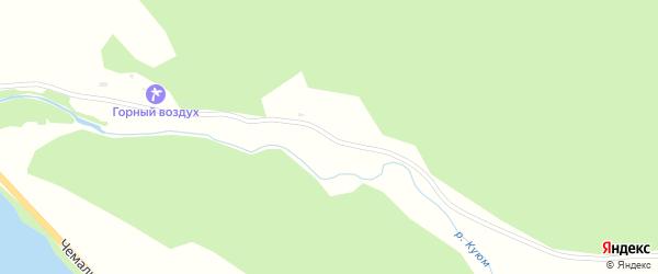 Куюмская улица на карте села Чемал с номерами домов