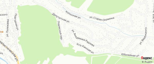 Насыпная улица на карте Горно-Алтайска с номерами домов