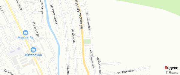 Улица Шишкова на карте Горно-Алтайска с номерами домов