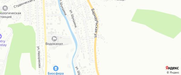Барнаульский переулок на карте Горно-Алтайска с номерами домов