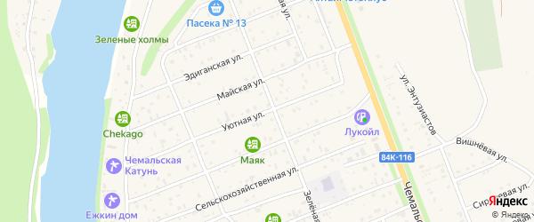 Уютная улица на карте села Чемал с номерами домов