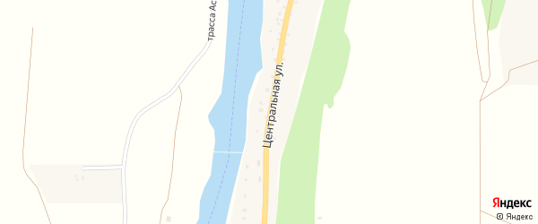 Центральная улица на карте села Элекмонар с номерами домов