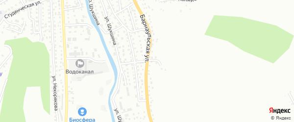 Барнаульская улица на карте Горно-Алтайска с номерами домов