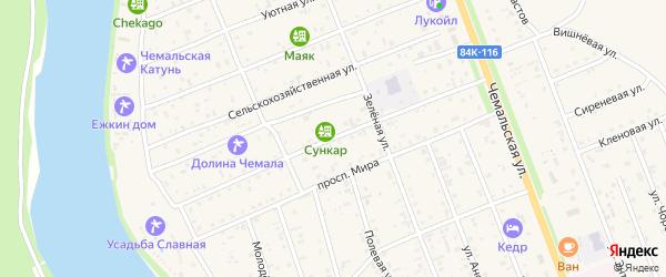 Радужная улица на карте села Чемал с номерами домов