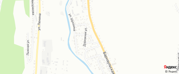 Дорожный переулок на карте Горно-Алтайска с номерами домов
