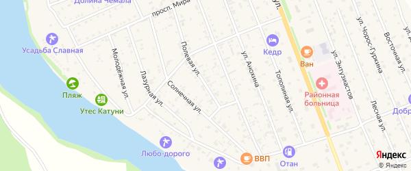 Полевая улица на карте села Чемал с номерами домов