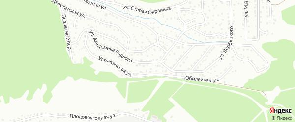 Улица имени Академика Радлова на карте Горно-Алтайска с номерами домов
