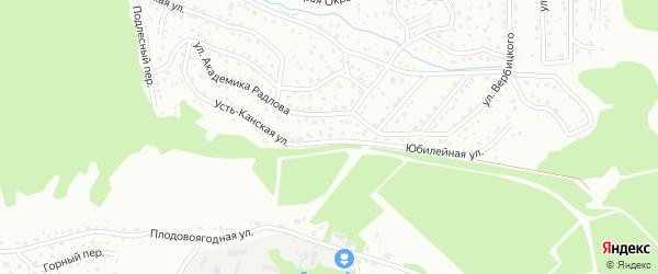 Усть-Канская улица на карте Горно-Алтайска с номерами домов