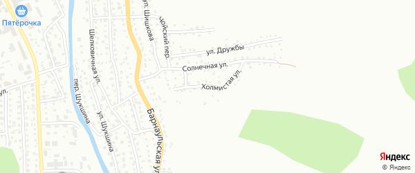 Холмистая улица на карте Горно-Алтайска с номерами домов