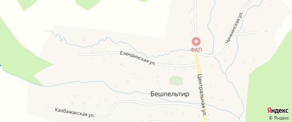 Елендинская улица на карте села Бешпельтир с номерами домов