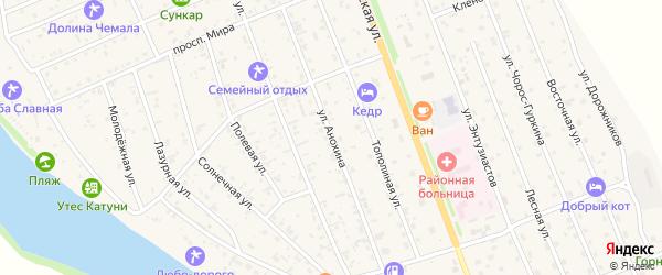 Улица Анохина на карте села Чемал с номерами домов