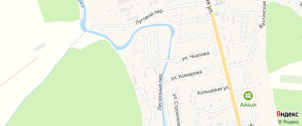 Лесхозная улица на карте села Кызыла-Озька с номерами домов