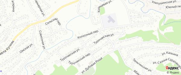 Телецкий переулок на карте Горно-Алтайска с номерами домов