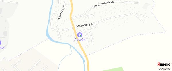 Медовый переулок на карте Горно-Алтайска с номерами домов