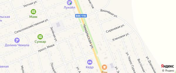 Чемальская улица на карте села Чемал с номерами домов