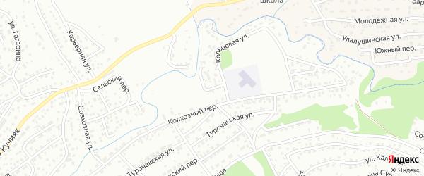 Лобный переулок на карте Горно-Алтайска с номерами домов