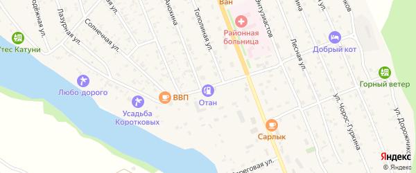 Набережная улица на карте села Чемал с номерами домов