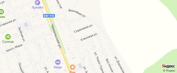 Кленовая улица на карте села Чемал с номерами домов