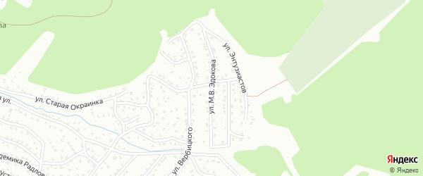 Переулок М.В.Эдокова на карте Горно-Алтайска с номерами домов