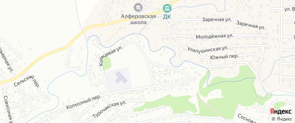 Кольцевая улица на карте Горно-Алтайска с номерами домов