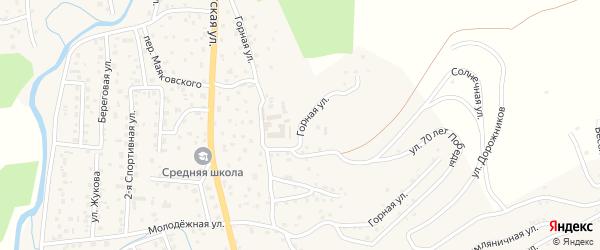 Горная улица на карте поселка т/б Юность с номерами домов