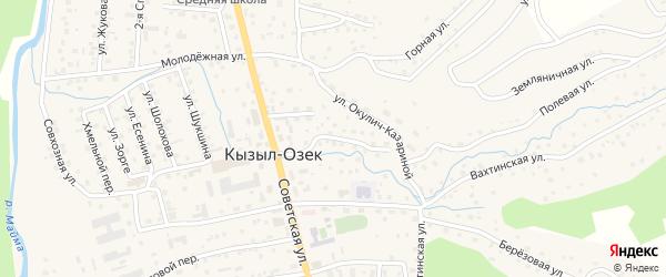 Улица Пушкина на карте села Кызыла-Озька с номерами домов