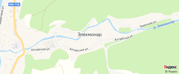 Лесная улица на карте села Элекмонар с номерами домов