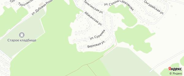 Улица Суремея на карте Горно-Алтайска с номерами домов