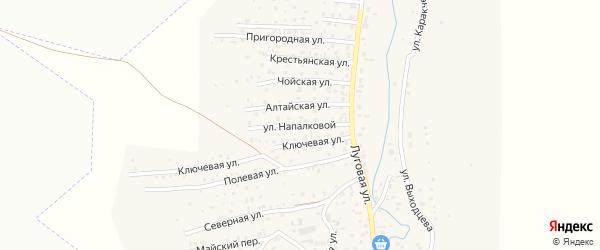 Улица Напалковой на карте поселка Алферово с номерами домов