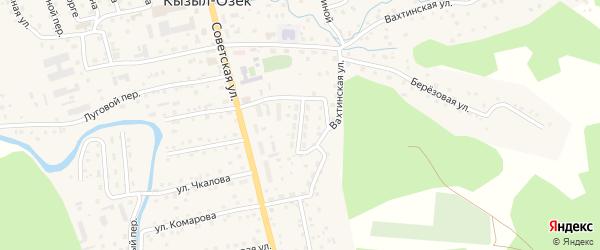 Улица Новоселов на карте села Кызыла-Озька с номерами домов