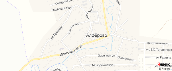 Цветочный переулок на карте поселка Алферово с номерами домов