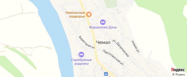 Улица Пчелкина на карте села Чемал с номерами домов