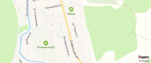 Улица М.Горького на карте села Кызыла-Озька с номерами домов