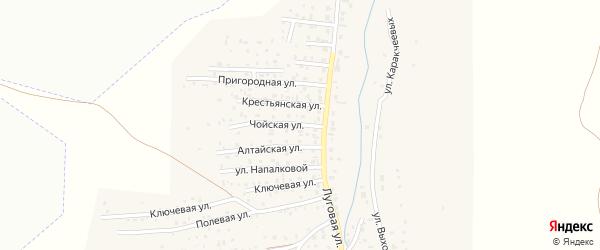 Чойская улица на карте поселка Алферово с номерами домов