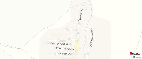 Улица Строителей на карте поселка Алферово с номерами домов
