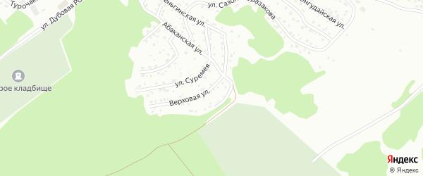 Верховая улица на карте Горно-Алтайска с номерами домов